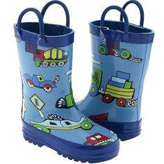 Pluie Pluie Toddler Boys Blue Truck Rain Boots 5