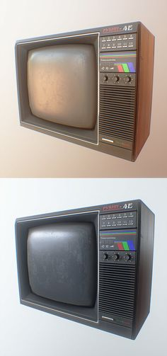 OldTV, Alexander Komendant on ArtStation at https://www.artstation.com/artwork/oldtv