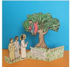 Zaqueo Catholic Bible, Catholic Crafts, Sunday School Kids, Sunday School Crafts, Zacchaeus, Bible Crafts For Kids, Life Of Christ, Bible Stories, Coloring Pages