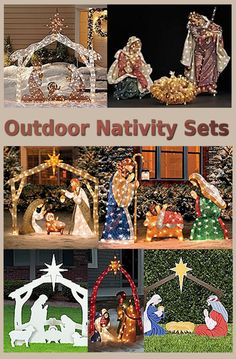Outdoor Nativity Sets Outdoor Nativity Sets Outdoor Nativity Sets really add a lot to your outside Christmas decorations Outdoor lighted nativity scenes affirm your faith and help to remind all who see t Christmas Manger, Christmas Nativity Scene, Nativity Scenes, Country Christmas, Christmas Home, Christmas Holidays, Christmas Crafts, Christmas Ornaments, Hanging Christmas Lights