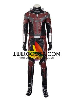 Costume Detail Marvel Antman Complete Cosplay Costume Includes: Helmet, Bodysuit, Arm Guard, Knee Guard, Accessories Set Please see individual tabs for information including: -available sizes for this