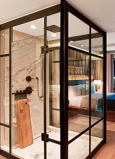 At the eco-friendly 1 Hotel Central Park, guests are encouraged to keep their shower to a five-minute maximum.