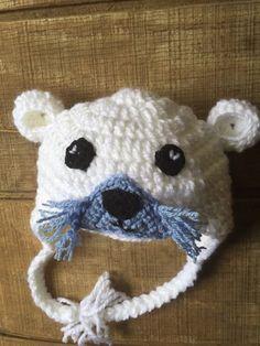 Sea Otter Hat, Crochet Sea Otter Hat,  Crochet Otter Hat, Otter Beanie