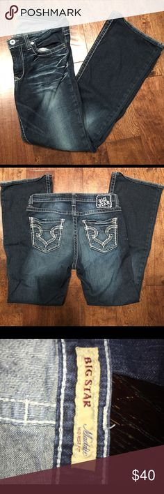 "BIG STAR 29L BIG STAR ""Maddie"" 29L stretchy denim. Good condition Big Star Jeans Flare & Wide Leg"