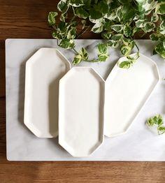 Ivory Ceramic Cheese Plate