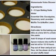 Homemade Vicks shower disks. If you are congested, just pop one onto the floor of your shower, and let the steam do it's work!