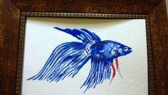 HappyBrush BELOVED PET Chinese Brush Painting. $20.00, via Etsy.