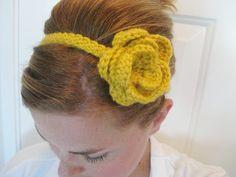 Just made this crochet headband.  So easy