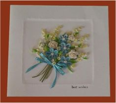 Item # 15584 Description: Show that you are a thoughtful person to your friends or family members when you give them a handmade card that is embellished with quilled flowers. It shows that you put a l
