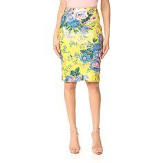 Diane von Furstenberg Tailored Pencil Skirt ($305) ❤ liked on Polyvore featuring skirts, slit skirt, white knee length pencil skirt, white mesh skirt, knee length pencil skirt and mesh skirt