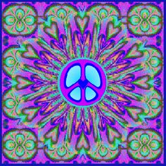 Peaceful Hearts Multiply Peace Sign Gif ☮️