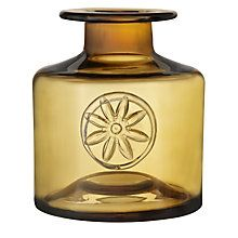 Buy Dartington Crystal Flower Bottle Vase, Yellow Clematis Online at johnlewis.com