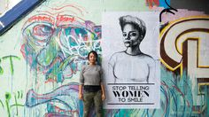 Brooklyn artist Tatyana Fazlalizdeh uses street art and murals as a tool to combat sexist street harassment in her ongoing campaign, Stop Telling Women to Smile. Street Harassment, Black History Month, Public Art, Black Art, Urban Art, Art Lessons, The Dreamers, Art Projects, Graffiti