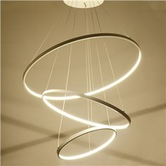 (EU Lager)Moderne Pendelleuchte Led Ring Design aus Acryl 80cm+60cm+40cm