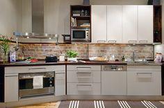 Eu moraria aqui: Tijolos e azulejos na cozinha