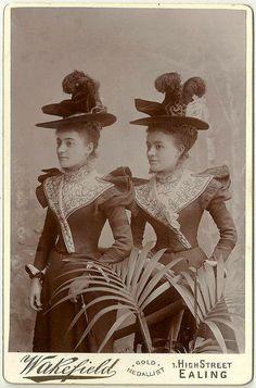c.1900 Fashion forward identicals.