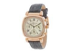 Isaac Mizrahi New York Chrono Vintage Appeal Dial Croco Leather Strap Watch