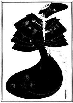 The Black Cape by Aubrey Beardsley for Salomé by Oscar Wilde, 1894