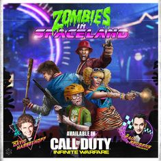 Zombies in Spaceland, Call of Duty: Infinite Warfare's New Undead Survival Co-Op Mode Set in the Bo3 Zombies, Black Ops Zombies, Infinite Warfare Zombies, Saturday Night Life, Games Zombie, Call Of Duty Infinite, Call Of Duty Zombies, Fortune Cards, New Zombie