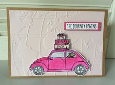 Beautiful Ride stamp set and World traveler embossing folder - found in Stampin' Up! 2016 Occasions catalog