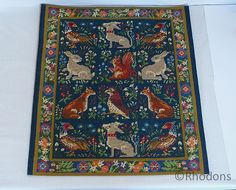 Vintage Berlin Woolwork Tapestry Panel from Rhodons Collectables