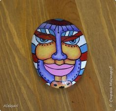 Handicraft product, Drawing and Painting Mural painting on stones Stone Acrylic Painting Photo 3