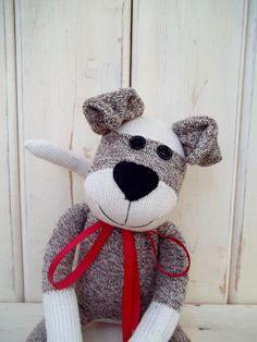 Sock Monkey Doll, Puppy Dog. $34.50, via Etsy.