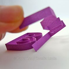Quilling Letters 101 - Part 4 Gluing Letters in Stages