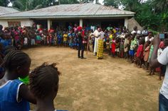 Youth perform skit to raise awareness of the dangers of Ebola at a school in Port Loko district.