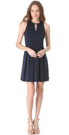 Rebecca Taylor Pleat Skirt Dress