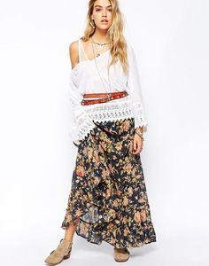 Denim & Supply By Ralph Lauren Floral Maxi Skirt at asos.com #maxiskirt #ralphlauren #women #covetme