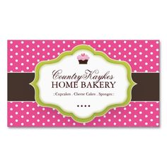 Whimsical Bakery Business Cards