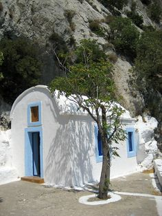 Agios Yiannis Theologos church in Samos island, Greece Mykonos, Samos Greece, Thasos, Go Greek, Religious Architecture, Cathedral Church, Greece Islands, Place Of Worship, Cathedrals