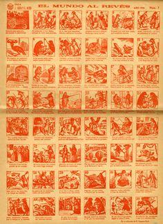 """Auca """"El mundo al revés"""" (1858) de la Biblioteca de Rafael Gayano Lluch. Reeditat l'any 1946 per la Falla Joaquín Costa de València. CA. 28.16"""