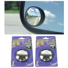 """2 Pcs Universal 2/"""" Wide Angle Convex Rear Side View Blind Spot Mirror for Car"""