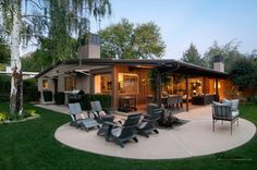 Attirant 20 Stunning Cement Patio Ideas. Backyard Covered PatiosCurved PatioConcrete  ...