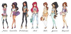 Disney Princesses High School- I think it's a little skimpy for our princesses but I love fan art nonetheless.