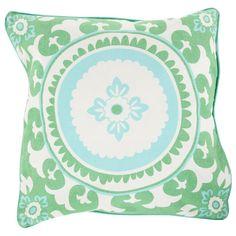 Surya Celestial Mint & Ivory Decorative Pillow - Save 15% Off all Surya with code SURYA15 thru 3/31/15