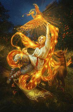 Phoenix Bird Fantasy Mythical Creatures 60 New Ideas Bird Illustration, Illustrations, Phoenix Bird, Bird Silhouette, Fairytale Art, Wow Art, Bird Drawings, Russian Art, Bird Art
