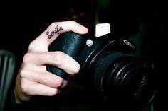 Smile Finger Tattoo