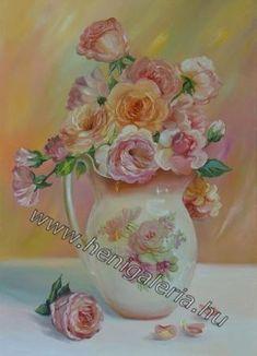 Gallery of Still Life Paintings Petals fragrance Festményeim: Szirmok illata