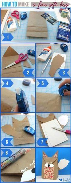 Unique idea of fox gift bag detailed in few steps