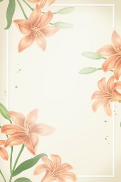 Download premium illustration of Lily flower frame mobile phone wallpaper