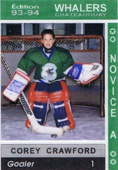 Corey Crawford - NHL Players as Kids Blackhawks Hockey b8c79852b