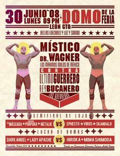 """Lucha libre"" poster. by José Luis Acosta Calva, via Behance"