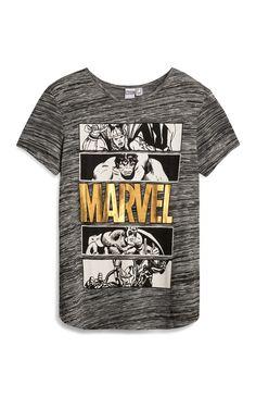 Primark - Grijs T-shirt met Marvel Avengers-print - Visit to grab an amazing super hero shirt now on sale!