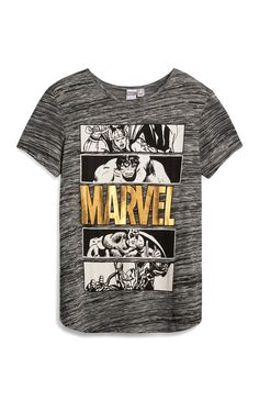 Grey Marvel Avengers T-Shirt