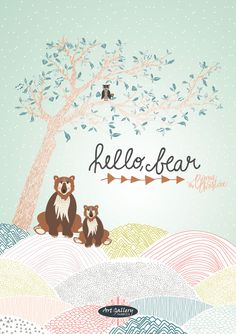 Hello Bear Collection by Bonnie Christine