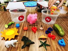 Alphabet Tub ideas and activities for preschool and kindergarten. Over 20 Alphabet Tub activities from Simply Kinder