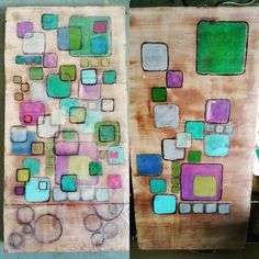 So this is the newest layers on this piece. I'm liking where it's going. But it still needs to evolve. I love the circles I added at the bottom (my husband's suggestion). #encausticpainting #encaustic #encausticartwork #encausticartist #wax #work_in_process #workingwithwax #artstudio #artistsofinstagram #artistsoninstagram #artcolonylife #tanneryrowartistcolony #tannery_row_artist_colony #artwork #art #mixed_media #mixedmedia #contemporaryart #historicbufordga #suwaneegeorgia #artist…